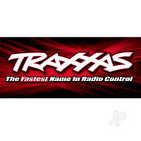 Traxxas racing banner, red & black (3x7 feet)