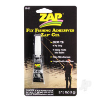 Fly Fishing Adhesives Zap Gel (0.10oz, 3g)