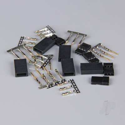 Hitec / JR Connectors Pairs with Gold Pins (5pcs)