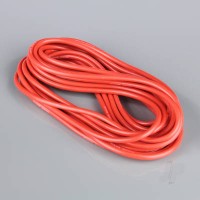 Silicone Wire, 10AWG, 25ft / 7.5m Red (on a roll)
