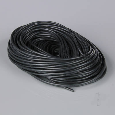 Silicone Wire, 16AWG, 100ft / 30m Black (on a roll)