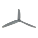 8x4 Slow Fly Propeller 3-Blade Grey Opposite Rotation
