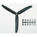 9x5 Slow Fly Propeller 3-Blade Black