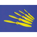 6x4 Nylon Propeller Yellow