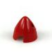 1 1/2in (37mm) Red Nylon Spinner
