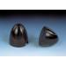 3 1/2in (89mm) 2-Blade Black Nylon Spinner