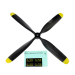 10x7.5 4-Blade Propeller (for F8F)