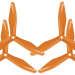 5x4.5 RS 3-Blade FPV Propeller Set x4 Orange