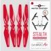 5.3x3.3 DJI Mavic Air STEALTH Upgrade Propeller Set, 4x Red