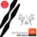 10x4.5 MR SL Propeller C Set x4 Orange, Built in Nut for 3DR SOLO