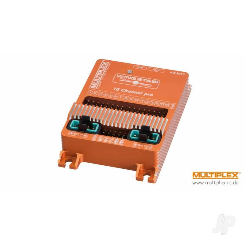 WINGSTABI 16-channel 3-axis Gyro, 35A battery backer (55015)