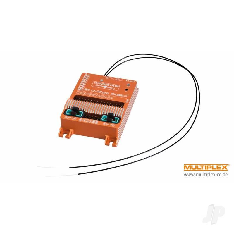 WINGSTABI 12-channel 3-axis Gyro Dual-Rx, 35A battery backer (55016)