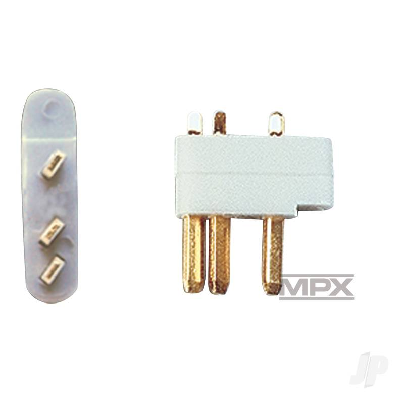 3-Pin Servo Plugs 5pcs (MULTIPLEX) 85218