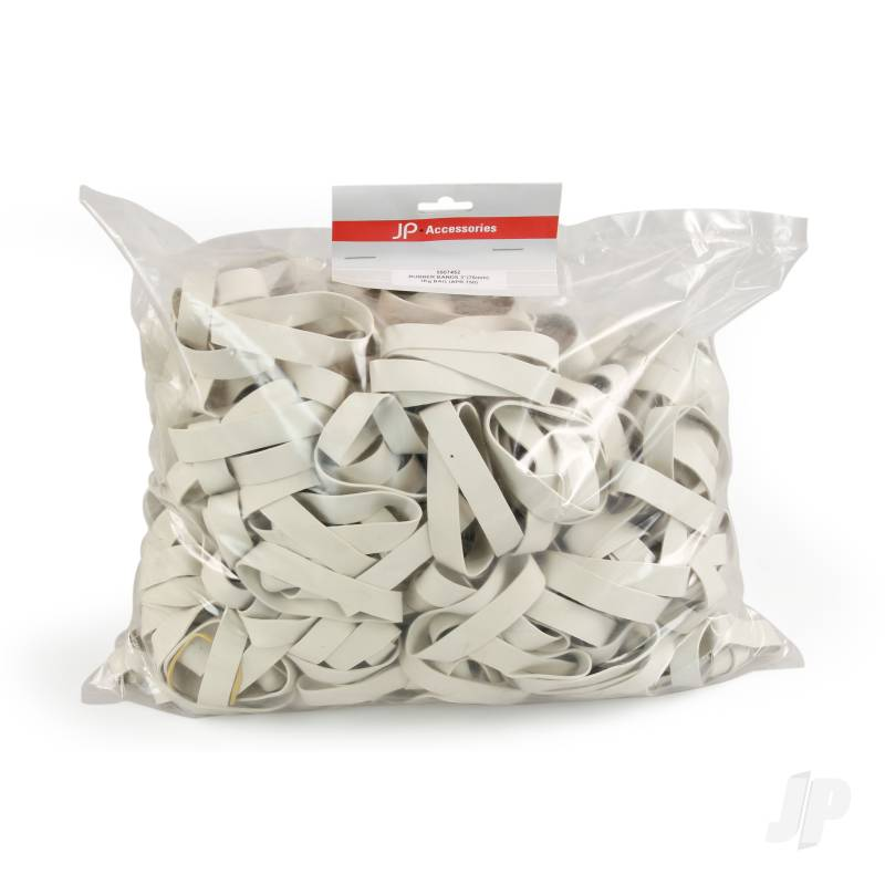 125mm (5.0ins) Rubber Bands 900g Bag (Aprox. 215 pcs)