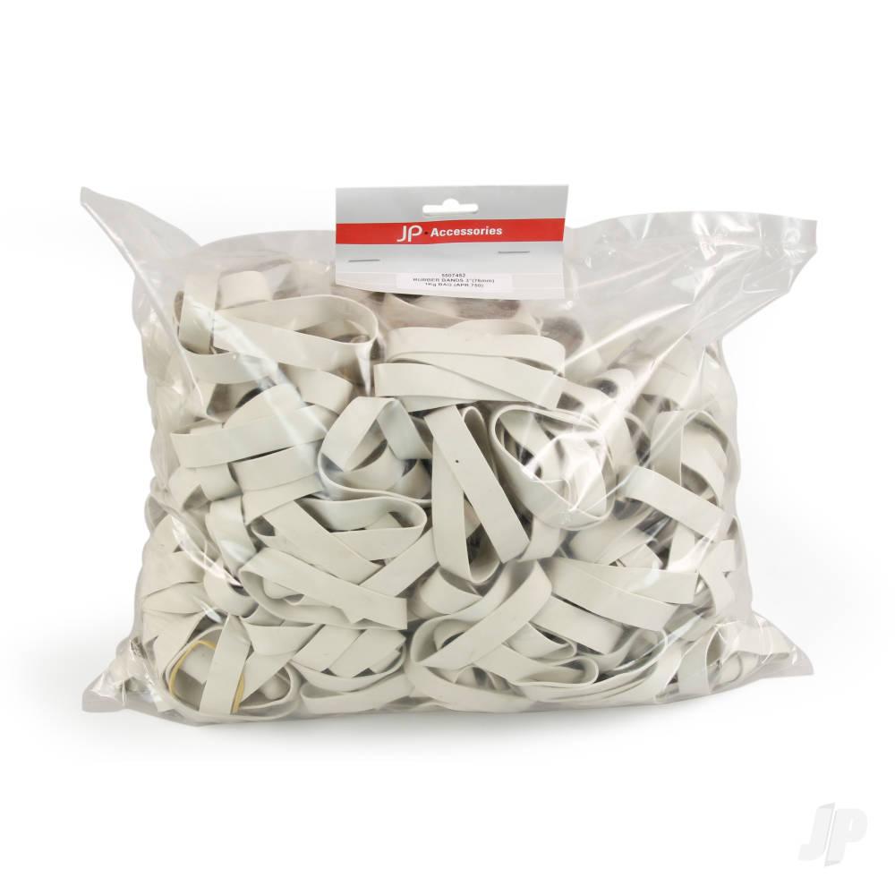 200mm (8.0ins) Rubber Bands 900g Bag (Aprox. 130pcs)
