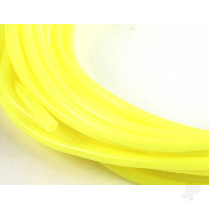 2mm (3/32) Silicone Fuel Tube Neon Yellow 10m