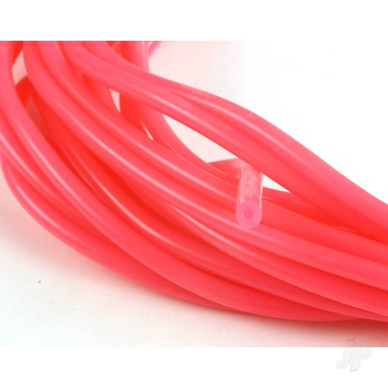 2mm (3/32) Silicone Fuel Tube Neon Pink 10m