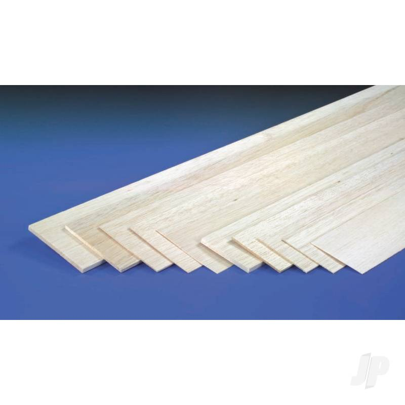 2.5mm 1mx100mm Sheet Balsa