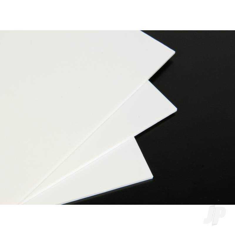 9x12in White Plastic Card 80Thou. (2.0mm) (5pcs)