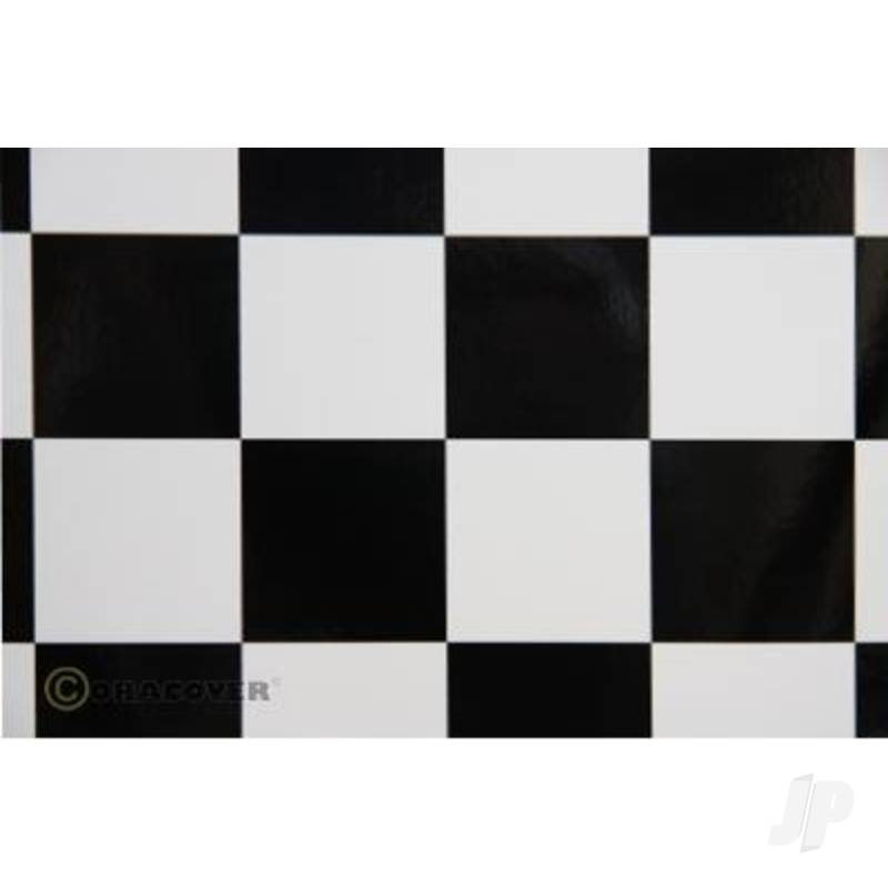 2m Oracover Fun-5 Large 52mm Chequered White/Black