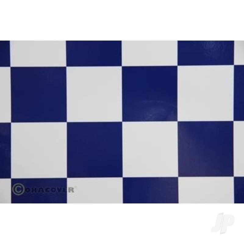 2m Oracover Fun-5 White/Dark Blue
