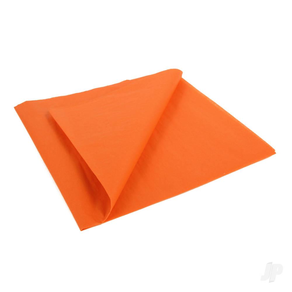 Golden Orange Lightweight Tissue Covering Paper, 50x76cm, (5 Sheets)