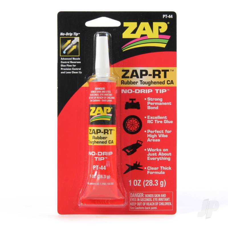 PT44 Zap-RT Rubber Toughened CA 1oz (Box of 6)
