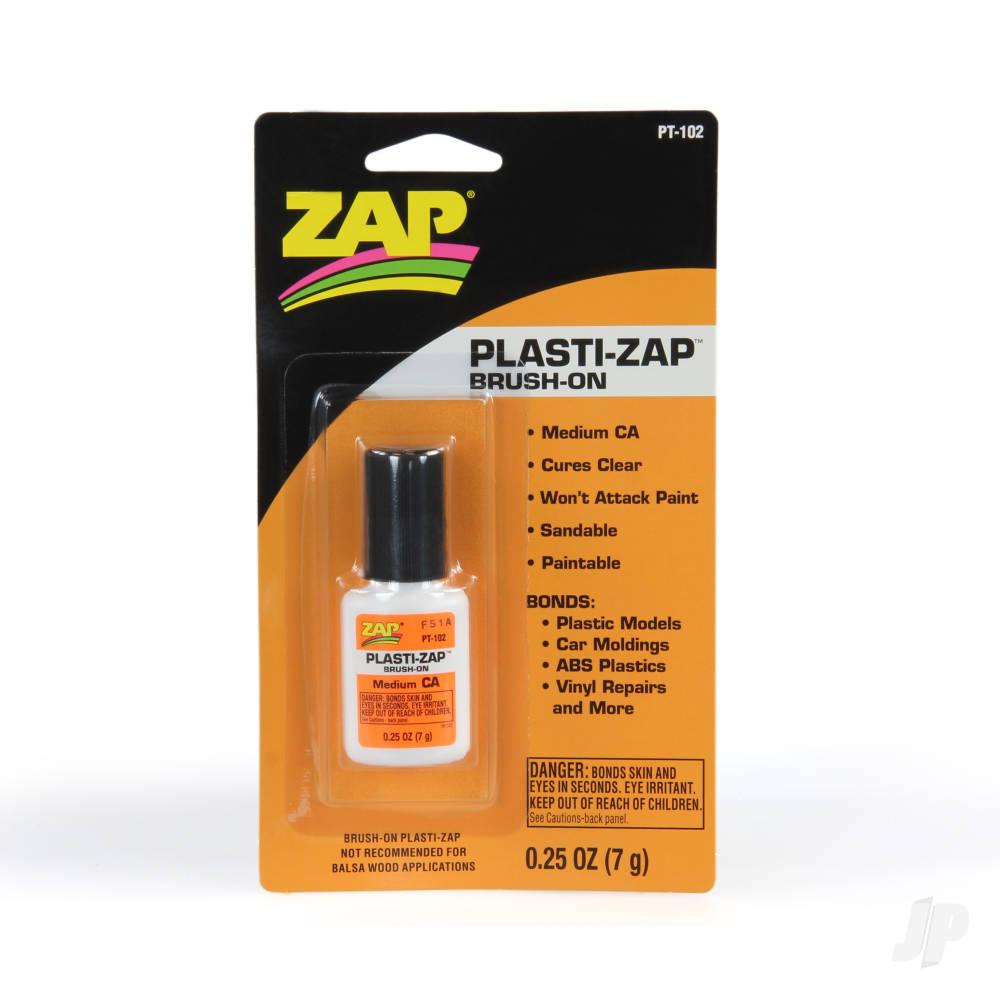 PT102 Plasti-Zap Brush-On CA 1/4oz (1)