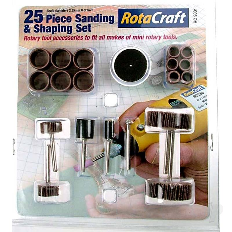 R/C9001 25pc Sanding & Shaping Set