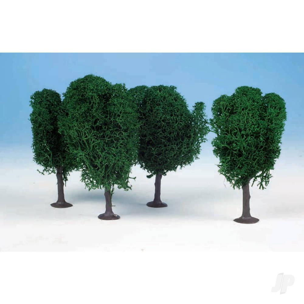 1010 3 Lichen Birch Trees 12cm (Dark Green)