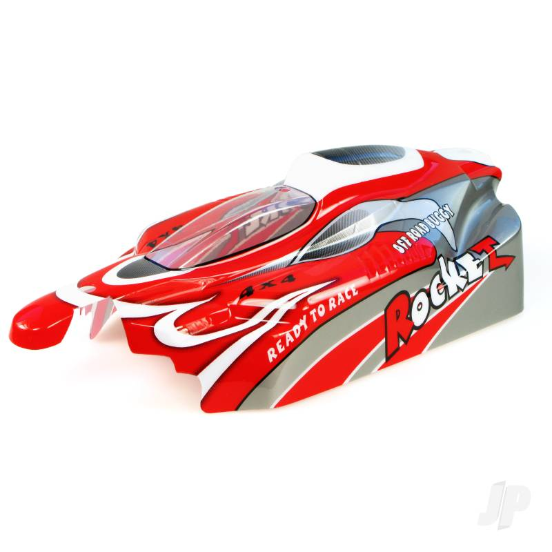 B001 Off Road Buggy Body (Rocket) (Red)