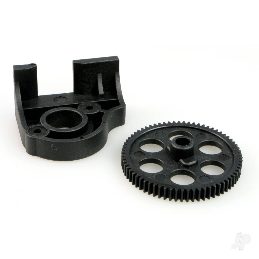 6538-P003 Motor Mount + Spur Gear (69T) Plastic