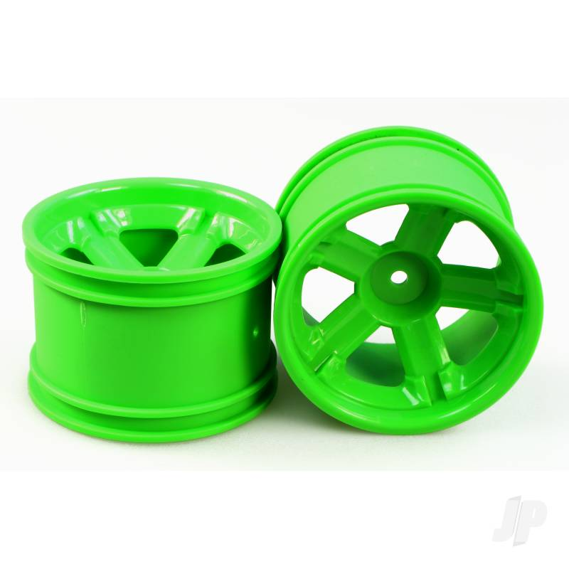 3338-P021 Spoke Wheel Rim (Green) Pair