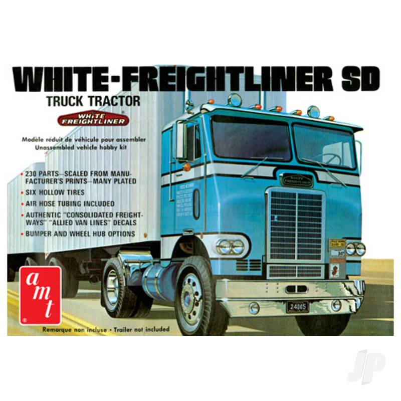 1:25 White Freightliner Single Drive Tractor