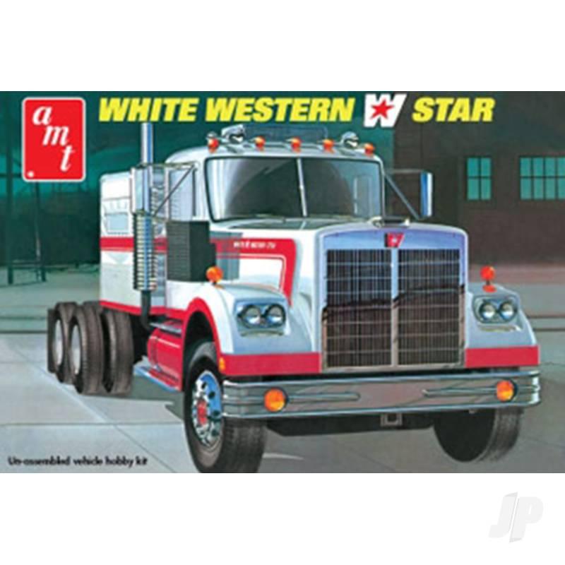 1:25 White Western Star Semi Tractor