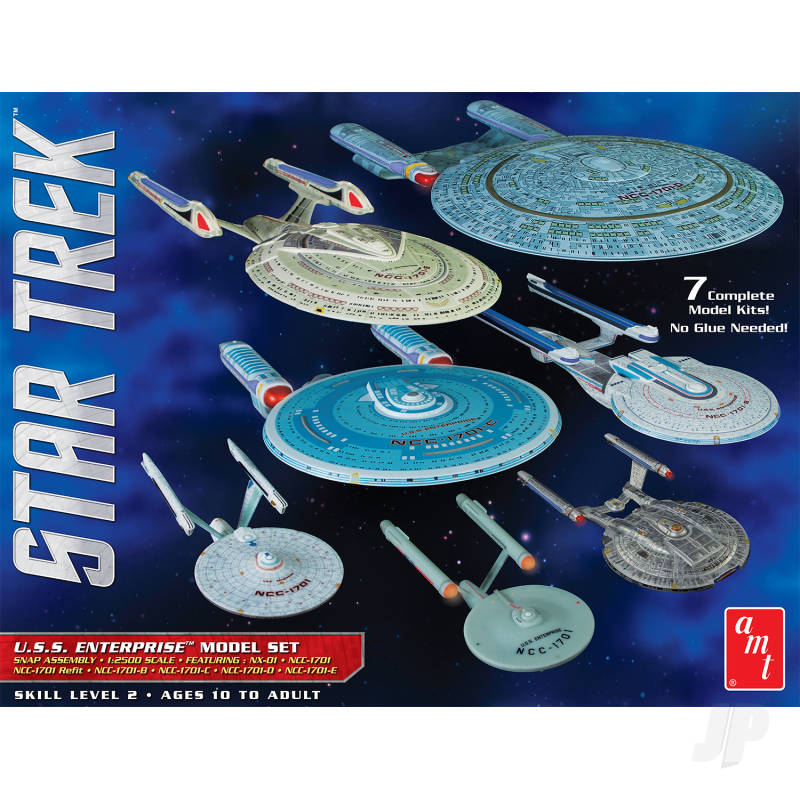 1:2500 Star Trek U.S.S. Enterprise Box Set - Snap