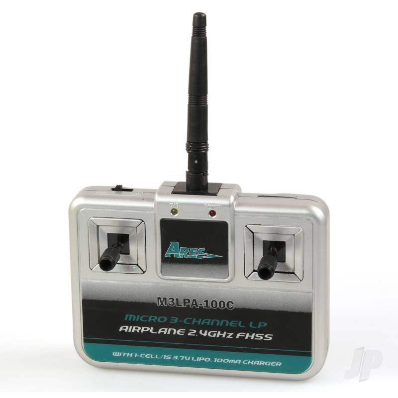 M3LPA-100C Micro 3-Channel LP Airplane Transmitter with 100mA Charger, Mode 2 (Stick 75/Tiger Moth 75)