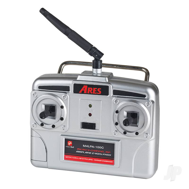 2.4GHz 4-Channel Transmitter with 100mA Charger (Hitec Red) (Sopwith, Fokker DVII)