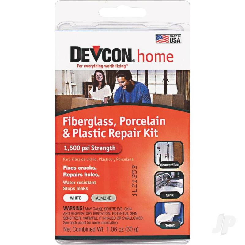 Fibreglass, Porcelain & Plastic Repair Kit