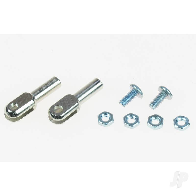 4-40 Steel Rod Ends (2pcs)