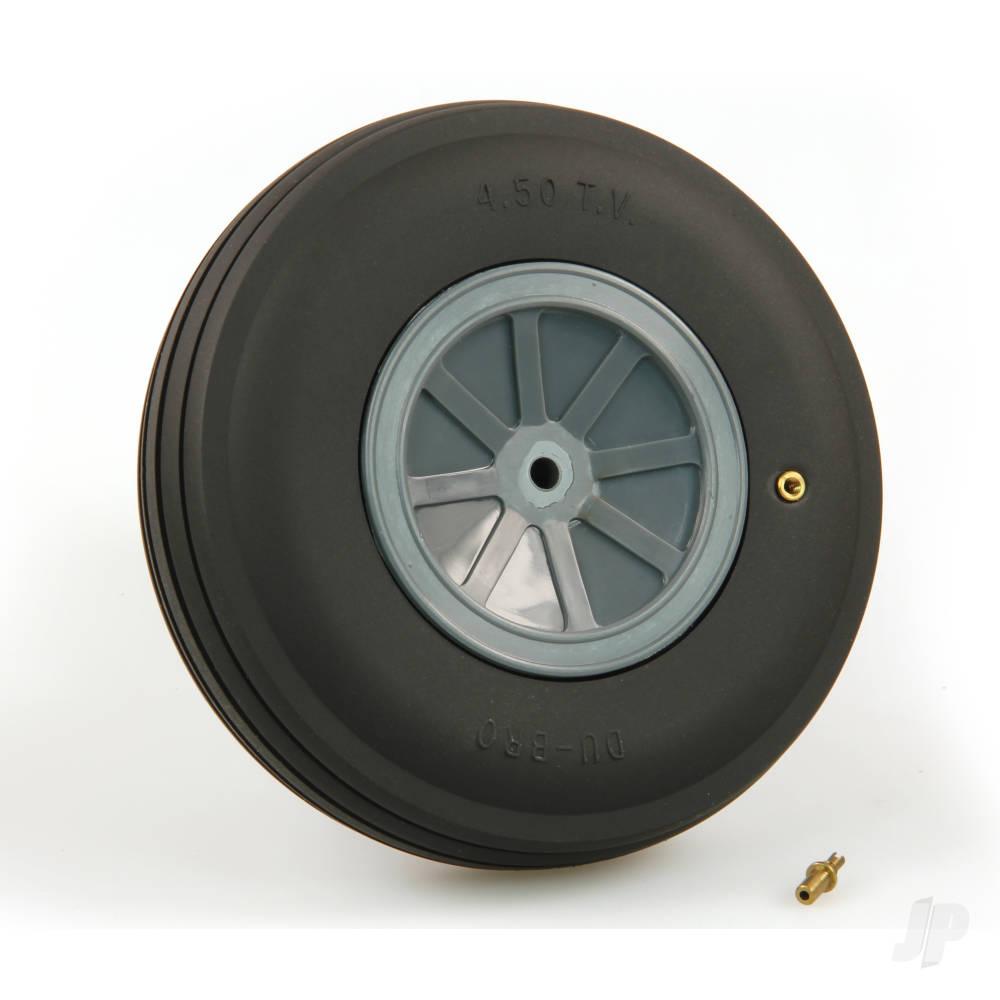 Large Treaded Inflatable Wheel 4 1/2 (1)