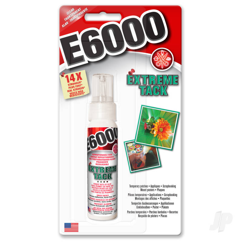 E6000 Extreme Tack Clear 59.1ml (Carded)