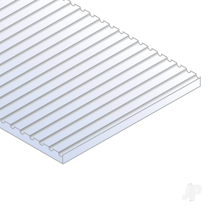12x24in (30x60cm) O-Scale Car Siding Sheet .020in (0.50mm) Thick (1 Sheet per pack)