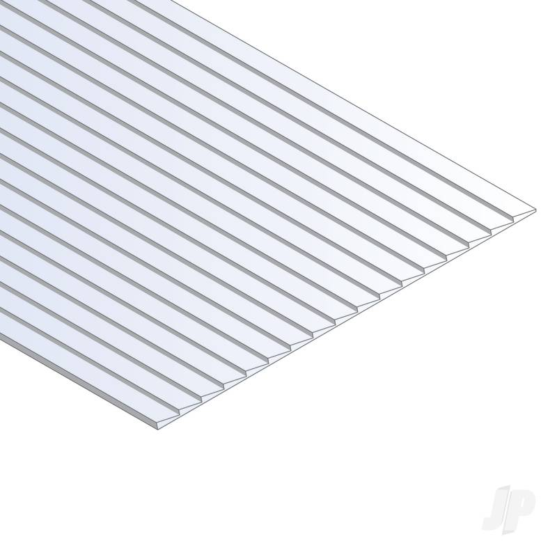 12x24in (30x60cm) Clapboard Siding Sheet .040in (1.0mm) Thick .080in Spacing (1 Sheet per pack)