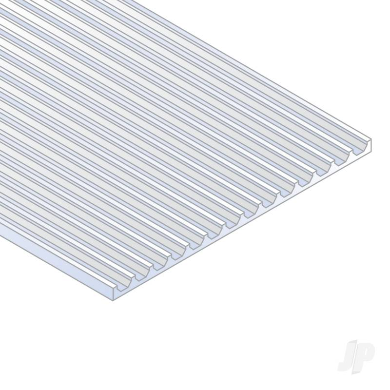 12x24in (30x60cm) Board & Batten Sheet .040in (1.0mm) Thick .075in Spacing (1 Sheet per pack)