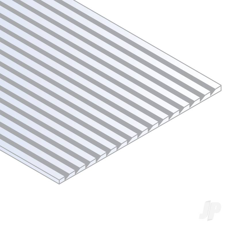 12x24in (30x60cm) Novelty Siding Sheet .060in (1.5mm) Thick .215in 1/4in Spacing (1 Sheet per pack)