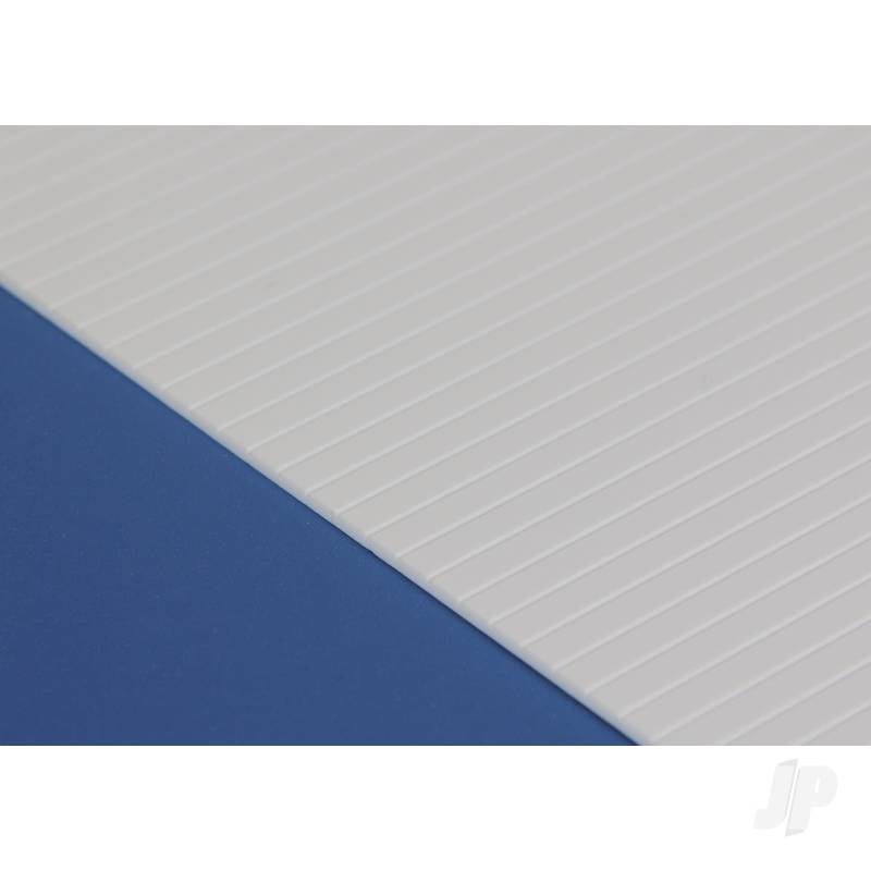 6x12in (15x30cm) V-Groove Siding Sheet .040in (1.0mm) Thick .100in Spacing (1 sheet per pack)