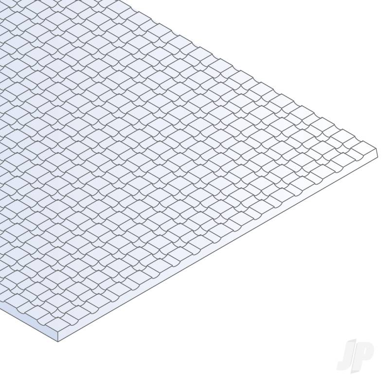 6x12in (15x30cm) Square Tile Sheet .040in (1.0mm) Thick 1/12x1/12in Spacing (1 Sheet per pack)