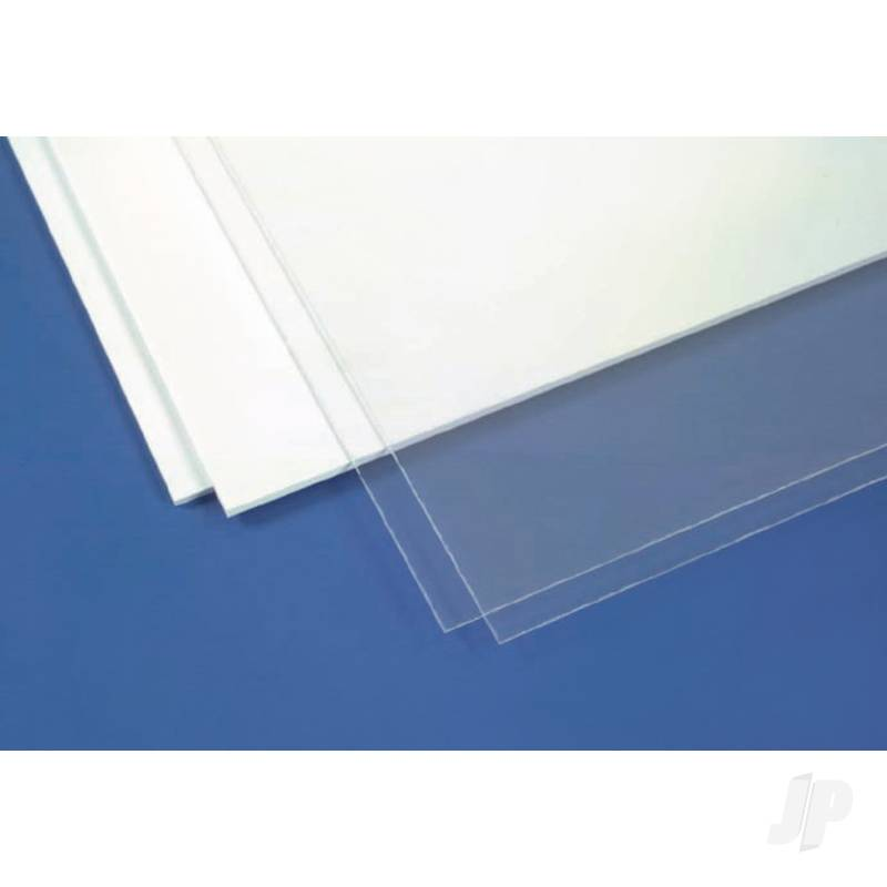 6x12in (15x30cm) White Sheet assortment (1 sheet each .010in, .020in, .040in per pack)