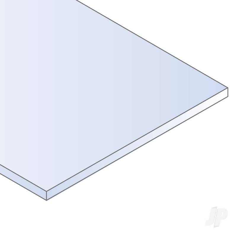 8x21in (20x53cm) White Sheet .040in Thick (3 Sheet per pack)